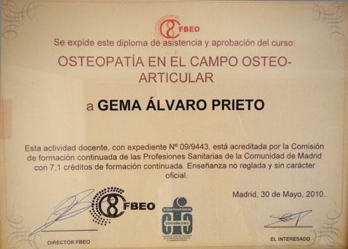 Titulación en osteopatía craneosacral