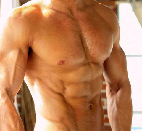 Musculado con nutrición y ejercicio